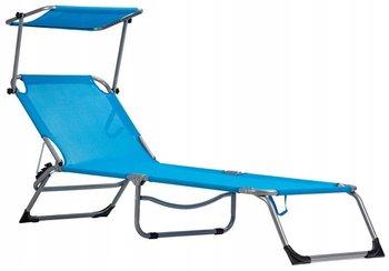 Leżak plażowy z daszkiem MODERNHOME, niebieski-Modernhome