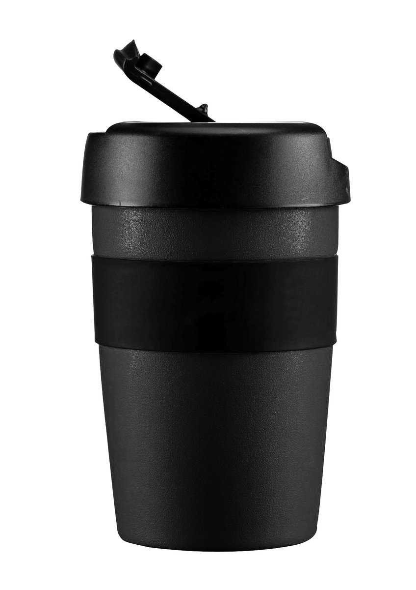 LIFEVENTURE, Kubek termiczny, Insulated Coffee Cups, czarny, 350 ml