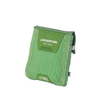 LIFEVENTURE, Ręcznik nturystyczny, SoftFibre Advance Trek Towel Pocket, zielony-lifeventure