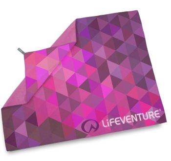 LIFEVENTURE, Ręcznik szybkoschnący, SoftFibre Advance Trek Towel Giant, fioletowy-lifeventure