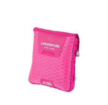 LIFEVENTURE, Ręcznik szybkoschnący, SoftFibre Advance Trek Towel Pocket, różowy-lifeventure