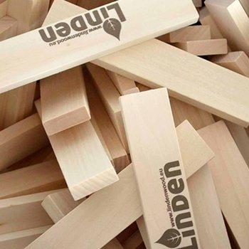 Lindenwood, klocki drewniane, 1000 sztuk-Lindenwood