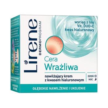 Lirene, Cera Wrażliwa, nawilżający krem z kwasem hialuronowym SPF 6, 50 ml-Lirene