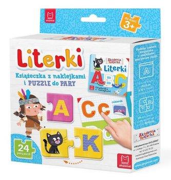 Literki. Książeczka z naklejkami i puzzle do pary-Opracowanie zbiorowe