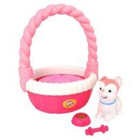 Little Live Pets, Piesek w koszyku, Różowy