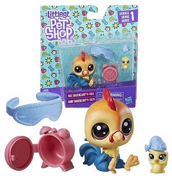 Littlest Pet Shop Zestaw 2 figurek Rick i Sunny Chickencluck oraz akcesoria