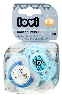 Lovi, Indian Summer, Smoczek uspokajający, dynamiczny, 6-18 m, 2 szt.-Lovi