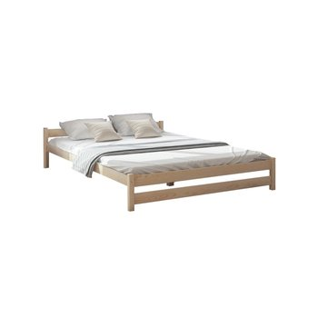 łóżko Lectus Toronto Z Materacem Eos Brązowe 140x200 Cm
