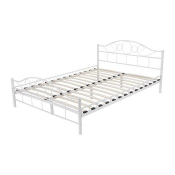 łóżko Metalowe Lectus Valeria Białe 140x200 Cm Lectus