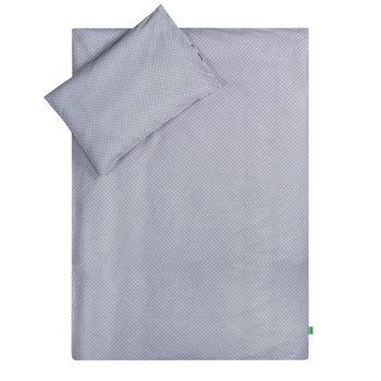 Lulando, Pościel dziecięca, 100x135 cm, Białe Groszki/Szare Chmurki, Szary/Biały-Lulando