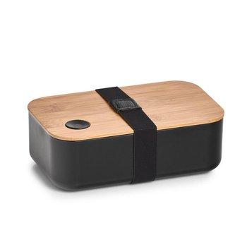 Lunchbox z przegródką ZELLER, czarny, 19x12x7 cm-Zeller