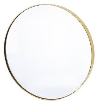Lustro okrągłe złote dekoracyjne 50,5x50,5x4,5 cm-Pigmejka