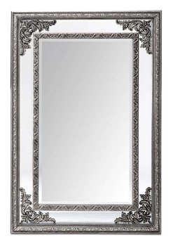 Lustro prostokątne zdobione srebrne 120x80x4 cm-Pigmejka