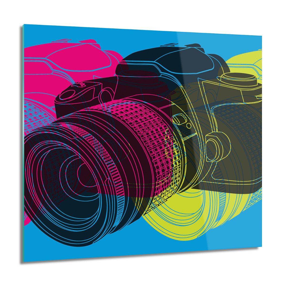 Lustrzanka aparat do salonu Foto szklane 60x60, ArtprintCave
