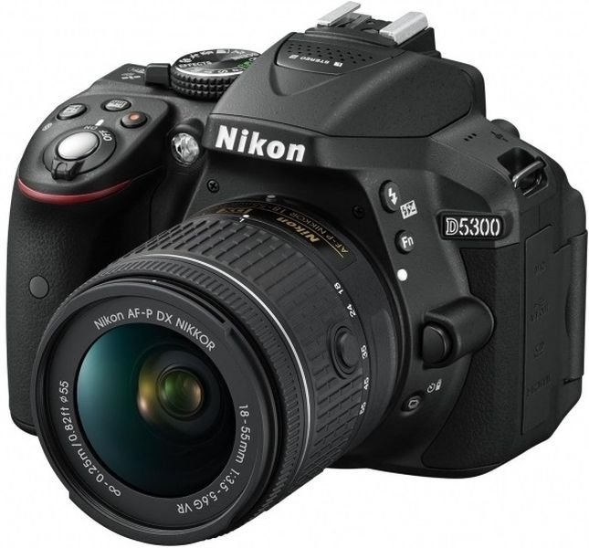Lustrzanka NIKON D5300 + AF-P VR 18-55 MM