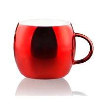 Lustrzany kubek ASOBU Sparkling Mugs, czerowny, 390 ml