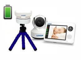 LUVION® ESSENTIAL - elektroniczna niania w zestawie z baterią Powerbank do kamery + statyw gratis