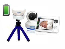 """Luvion® Essential Plus 3,5"""" - elektroniczna niania w zestawie z baterią Powerbank do kamery + statyw gratis"""