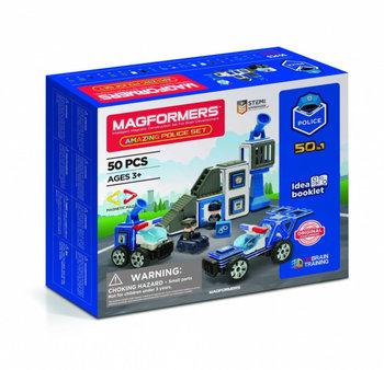 Magformers, klocki konstrukcyjne Zestaw policyjny-Magformers