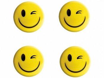 Magnesy do tablic na lodówkę, żółty uśmiech, 35 mm, 5 sztuk-TETIS