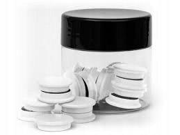 Magnesy okrągłe, białe, 30 mm, 10 sztuk-TRES
