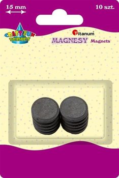 Magnesy okrągłe średnica 10 mm 10szt, CRAFT-FUN - 10mm-Titanum