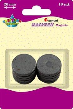Magnesy okrągłe, średnica 20 mm, 10szt, CRAFT-FUN - 20mm-Titanum