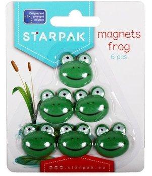 Magnesy, żabka, 6 sztuk-Starpak