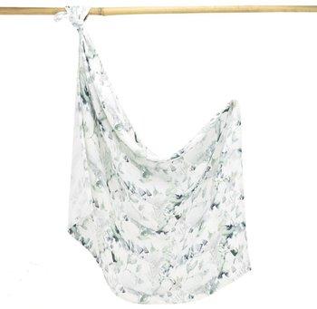 Makaszka, Otulacz bambusowy, Sage Green, 75x100 cm-Makaszka