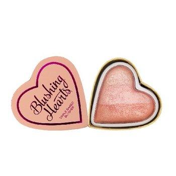 Makeup Revolution, Blushing Hearts, róż do policzków Peachy Pink Kisses, 10 g-Makeup Revolution