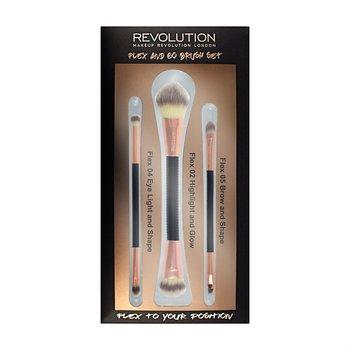 Makeup Revolution, Brush Flex & Go, zestaw pędzli do makijażu, 3 szt.-Makeup Revolution