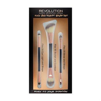 Makeup Revolution, Brush Flex & Sculp, zestaw pędzli do makijażu, 3 szt.-Makeup Revolution