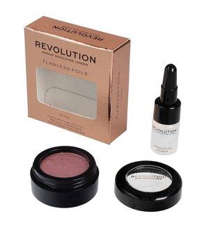 Makeup Revolution, Flawless Foils, metaliczny cień do powiek + baza Rival-Makeup Revolution