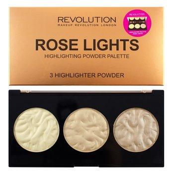 Makeup Revolution, Highlighter Palette, paleta rozświetlaczy Rose Lights, 15 g-Makeup Revolution