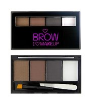 Makeup Revolution, I Heart Makeup Brows Kit, paleta do makijażu brwi Bold Is Best, 3 g