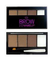 Makeup Revolution, I Heart Makeup Brows Kit, paleta do makijażu brwi I Woke Up This Groomed, 3 g
