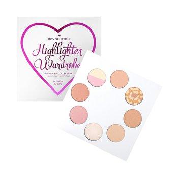 Makeup Revolution, I Heart, paleta 8 rozświetlaczy do twarzy i ciała-Makeup Revolution