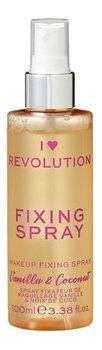 Makeup Revolution, I Heart Revolution, fixing spray utrwalający makijaż Vanilla & Coconut, 100 ml-Makeup Revolution