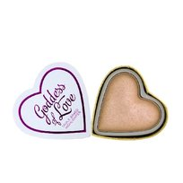 Makeup Revolution, I Love Make Up Blushing Hearts, rozświetlacz do twarzy Goddess of Faith, 10 g