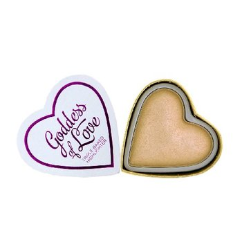 Makeup Revolution, I Love Make Up Blushing Hearts, rozświetlacz do twarzy Golden Goddess, 10 g-Makeup Revolution
