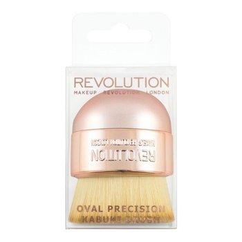 Makeup Revolution, Oval Precision Kabuki, pędzel do makijażu, 1 szt.-Makeup Revolution