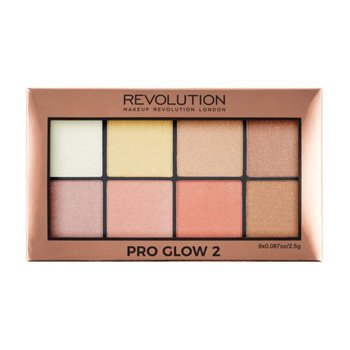 Makeup Revolution, Pro Glow 2, paleta rozświetlaczy, 8x2,5 g-Makeup Revolution