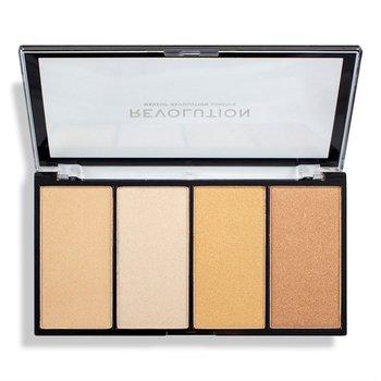 Makeup Revolution, Re-Loaded Lustre, paleta rozświetlaczy Lights Warm, 4x5 g-Makeup Revolution