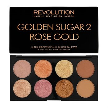 Makeup Revolution, Ultra Blush Palette, paleta do konturowania twarzy Golden Sugar 2 Rose Gold, 13 g-Makeup Revolution