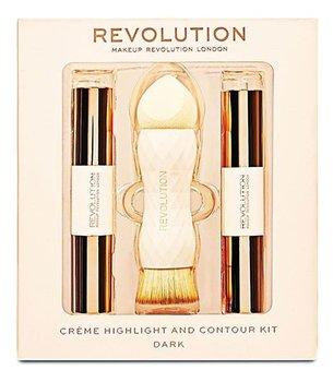 Makeup Revolution, zestaw do konturowania Dark, 3 szt.-Makeup Revolution