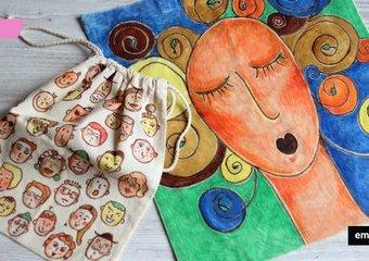 Malowane torby na zakupy - twarzowa wersja na lato