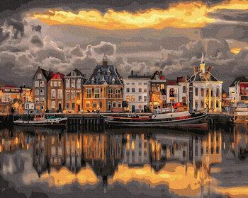Malowanie po numerach, 40x50cm, Zachód słońca nad Rotterdamem-Twoje-Hobby