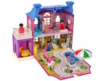 MalPlay, domek dla lalek z garażem-MalPlay