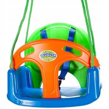 MalPlay, huśtawka dziecięca ogrodowa z szelkami 3w1-MalPlay