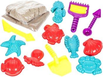 MalPlay, zabawka edukacyjna Piasek kinetyczny z foremkami-MalPlay